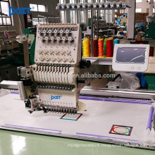 DT 1202C 9 Needle 2 Head computerized computer embroidery machine high speed multi function cap t-shirt gamrment embroidery mach